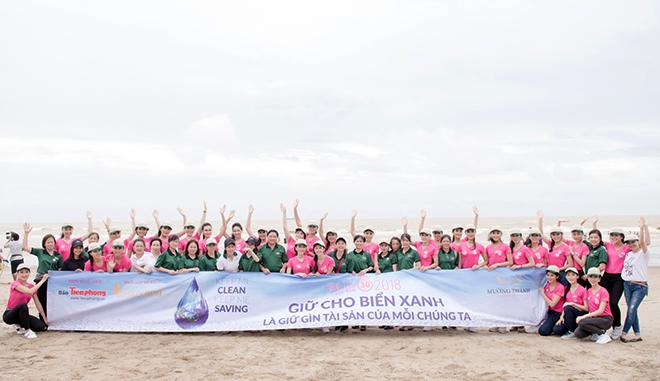 Tập đoàn khách sạn Mường Thanh phối hợp cùng ban tổ chức Hoa Hậu Việt Nam 2018 tổ chức lễ ra quân dự án 'Giữ cho biển xanh'