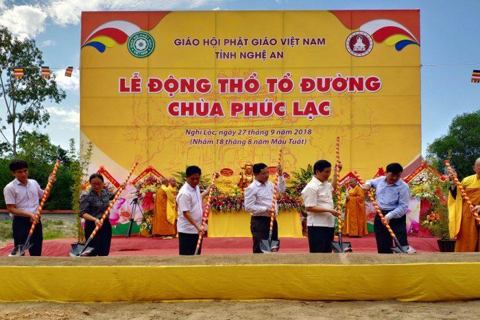 Tập đoàn Mường Thanh thành tâm cúng dường xây dựng Tổ Đường chùa Phúc Lạc