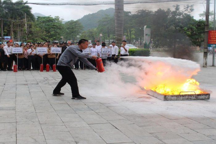 Mường Thanh Grand Tuyên Quang Diễn Tập phòng cháy chữa cháy cho CBNV