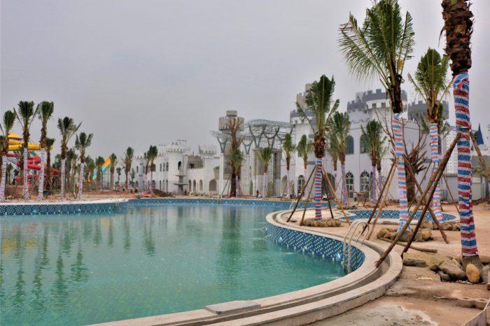 Công viên nước Thanh Hà hoàn thiện 90% các hạng mục công trình