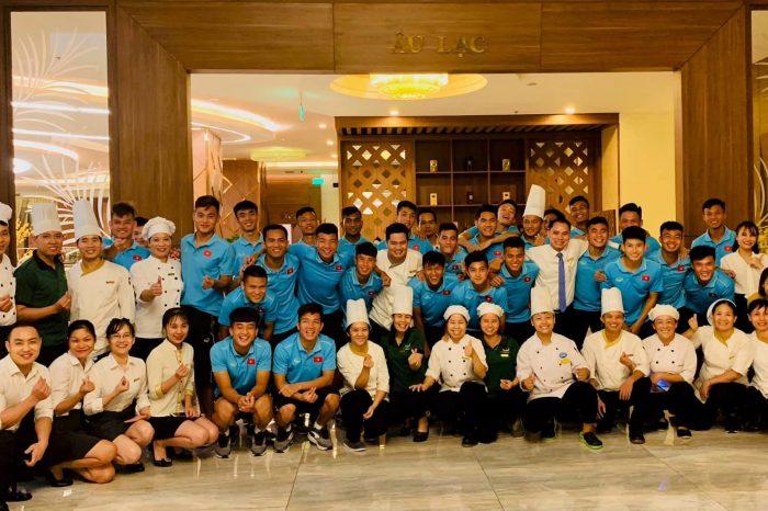 U23 Việt Nam lưu trú tại khách sạn Mường Thanh Luxury Phú Thọ