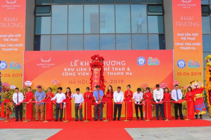 Khai trương Khu liên hợp thể thao và Công viên nước Thanh Hà