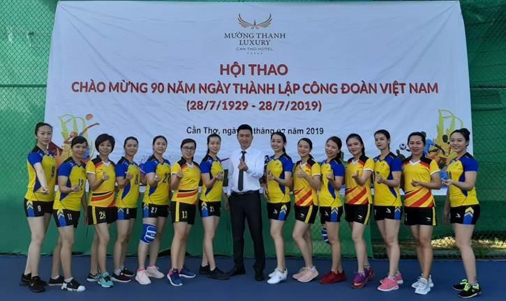 Mường Thanh Cần Thơ tổ chức hội thao chào mừng 90 năm thành lập Công đoàn