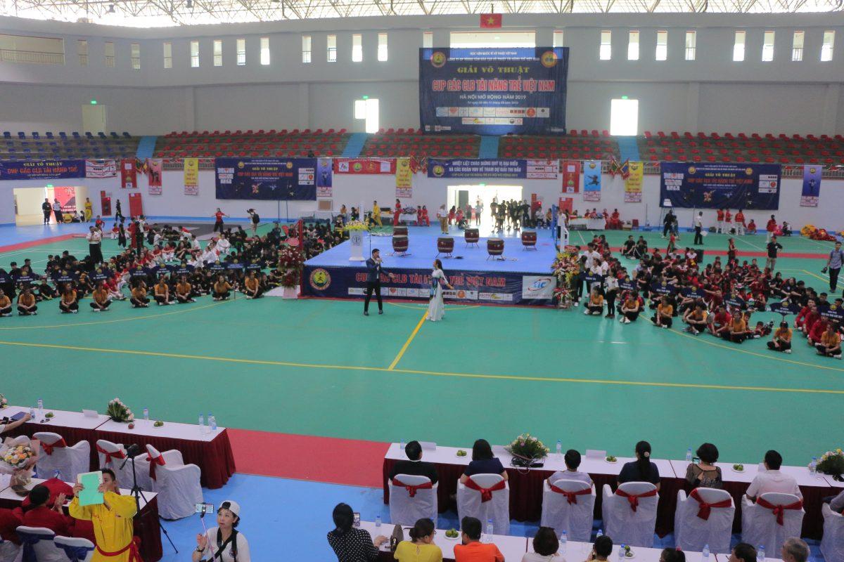 Khai mạc Giải võ thuật Cúp các CLB tài năng trẻ Việt Nam Hà Nội mở rộng 2019 tại Khu liên hợp thể thao Thanh Hà