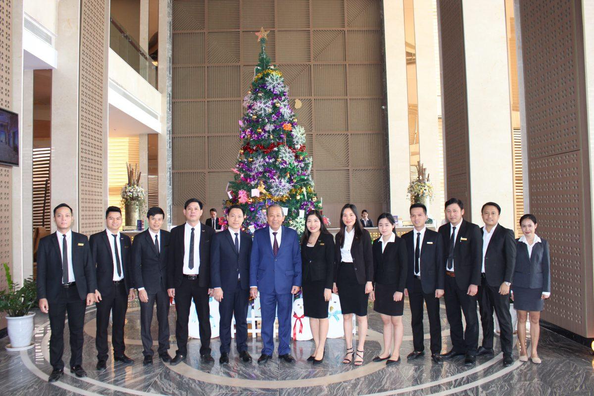 Mường Thanh Luxury Vientiane vinh dự đón Phó Thủ tướng Thường trực Trương Hòa Bình