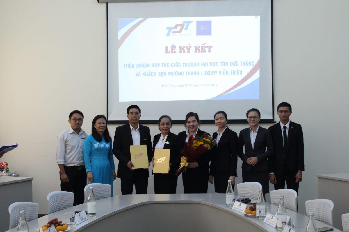 Mường Thanh Luxury Viễn Triều ký kết hợp tác đào tạo với Đại học Tôn Đức Thắng