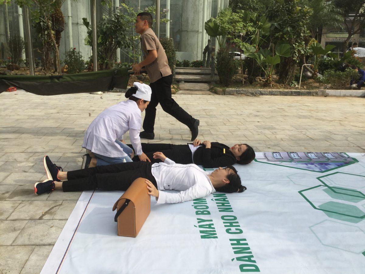 CBNV khách sạn Mường Thanh Grand Hạ Long hào hứng trong buổi diễn tập PCCC & CNCH