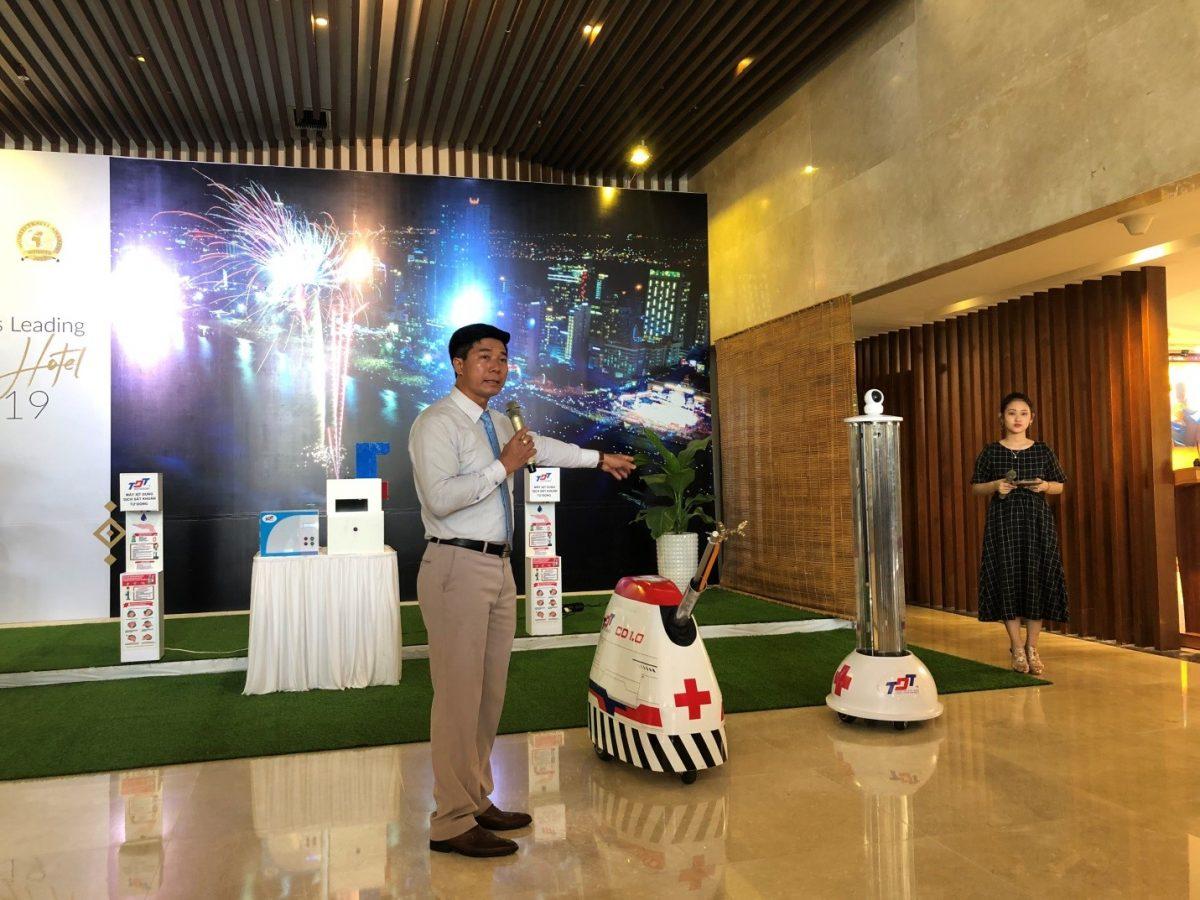 Thực nghiệm sản phẩm hỗ trợ chống dịch COVID-19 tại Mường Thanh Luxury Nha Trang