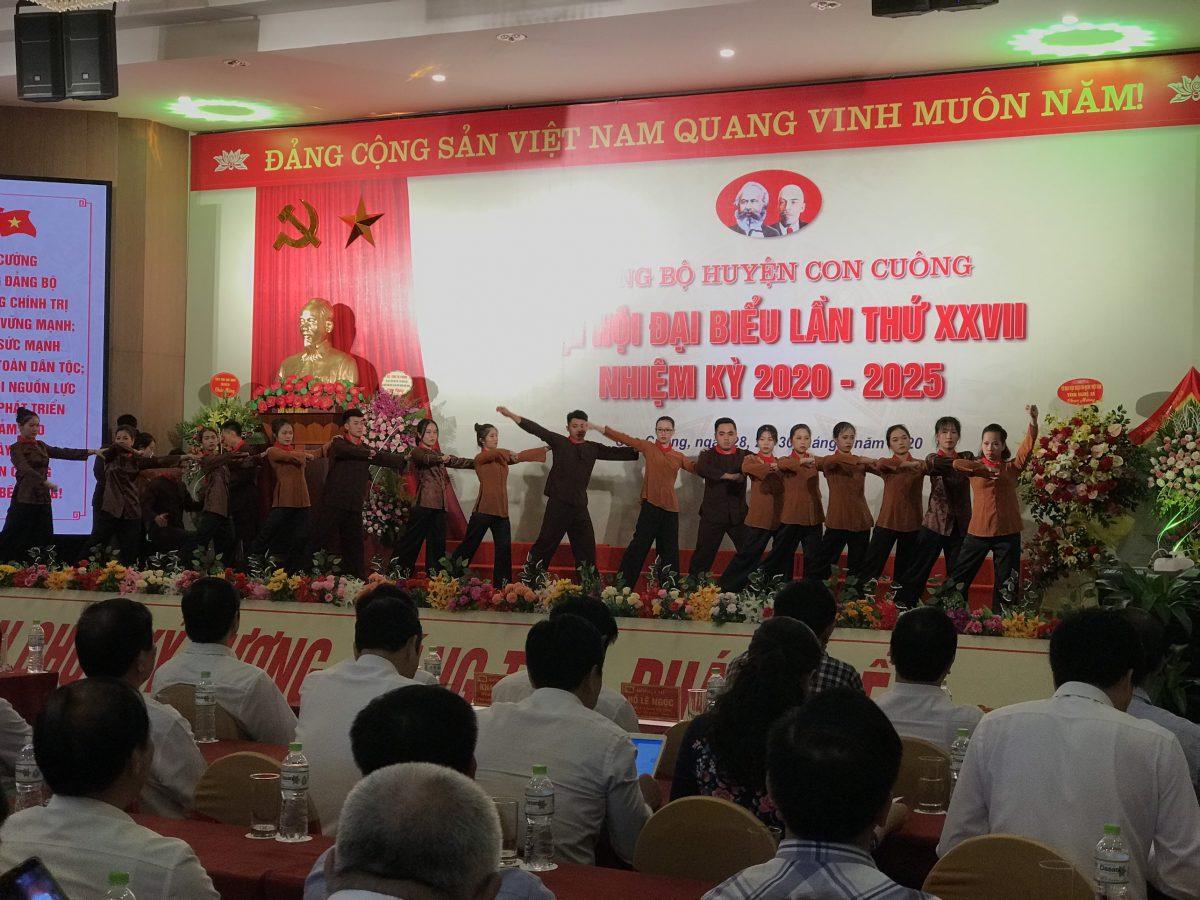 Mường Thanh Con Cuông đón 300 đại biểu về tham dự Đại hội Đảng cấp huyện