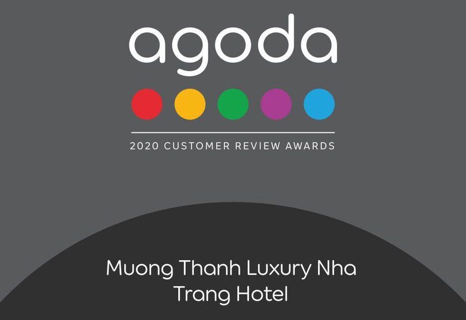 """Mường Thanh Luxury Nha Trang giải thưởng """"Agoda – 2020 Customer Review Awards"""""""