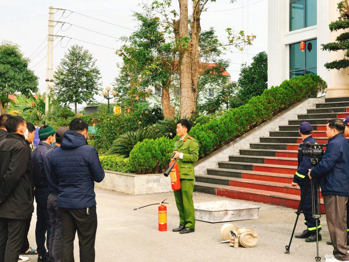 Mường Thanh Con Cuông tổ chức tập huấn phòng cháy chữa cháy